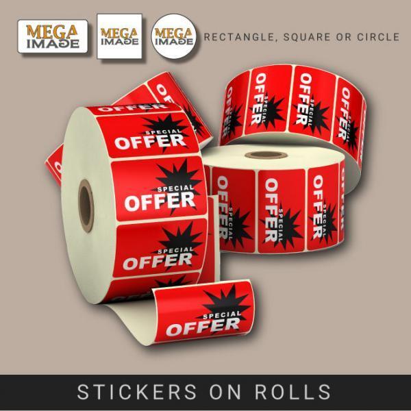 stickers on rolls