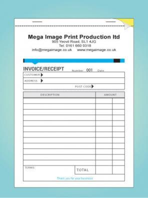 PERSONALISED DUPLICATE INVOICE BOOK