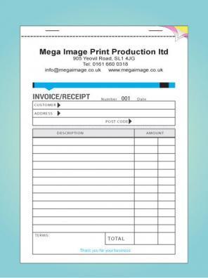 personalised triplicate invoice book